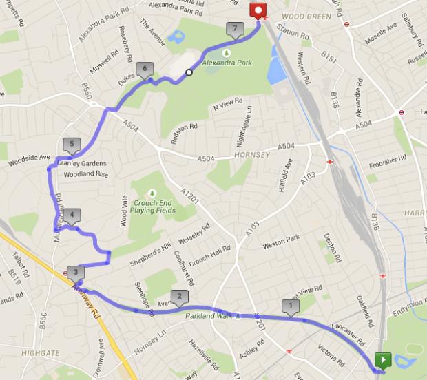 Parkland Walk Map